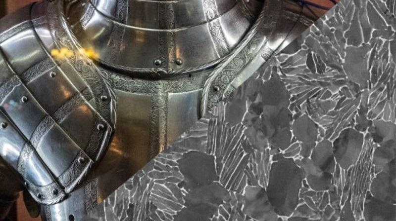 16th century Lee Armour and microstructure of titanium alloy by Dylan Hall.